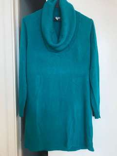 Teal Turtleneck Knitted Top