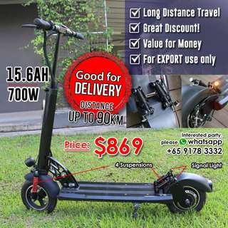Powerful Electric Scooter • Distance up to 90KM • Good for Delivery • Great Discount!!!