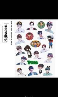 🍭PO TFBOYS sticker sheet
