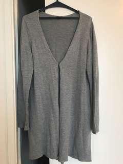 Grey Knitted Cardigan