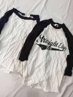 ☘️☘️男女童7分袖上衣,2件$250