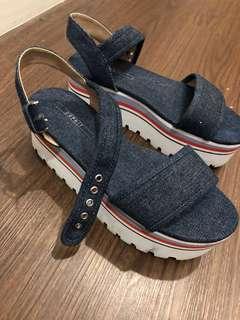 Espirit denim platform shoes