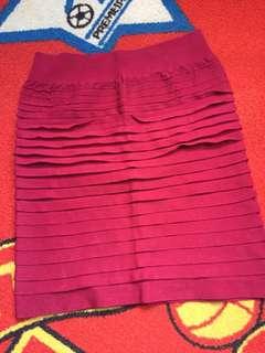 Short Skirt Maroon