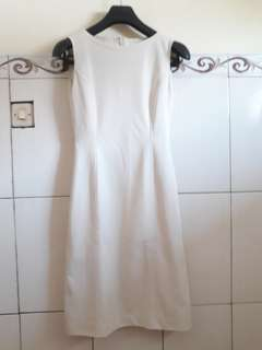 Dress midi korea putih