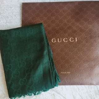 (New)Gucci classic green 大頸巾scarf