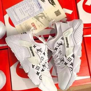 Supreme X Louis Vuitton X Nike Air Huarache Sneakers