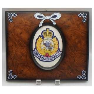 殖民地時代----皇家香港警察 LOGO 連木掛框