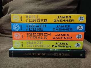 REPRICED Maze Runner Series Set and Miss Peregrines Home for Peculiar Children