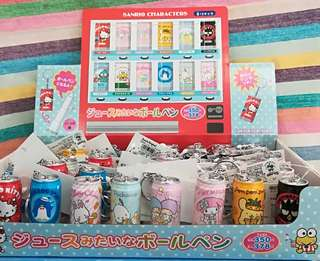 Sanrio Characters 汽水罐形黑色原子筆