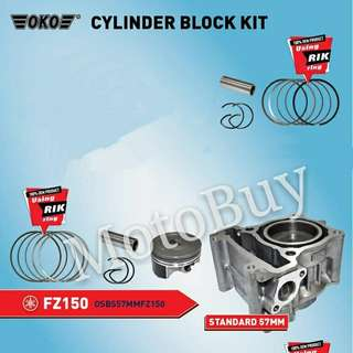OKO HEAVY DUTY FZ150 STANDARD BLOCK SET-WITH RIK PISTON RING