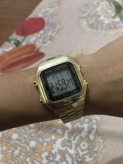 Casio Vintage A178WGA Gold Plated Watch for Men and Women (still available)