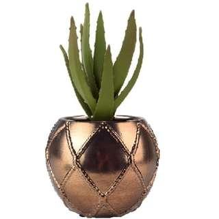 Sale! Gold Planter / Pot / Vase