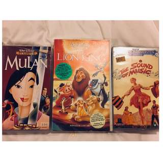 Disney and Classics - Vintage Video Tapes