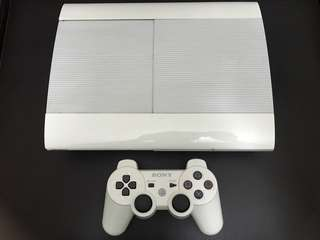 White PS3 Superslim 500GB