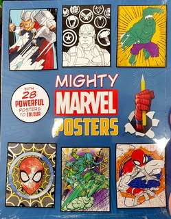 Mighty Marvel story comes with 28 colouring poster
