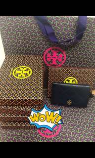 Tory burch Georgia slim wallet 紅,黑,綠,藍