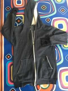 Jaket hoodie biru baby Terry two tone Ripcurl