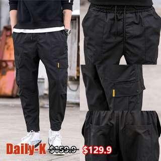 18年春夏貨品 DSJD-A151#A183  雙側袋運動束腳褲