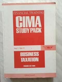 CIMA text book Business Taxation