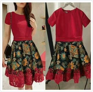 NEW Batik Dress (Red)