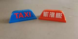 Taxi Sign Not for Hire
