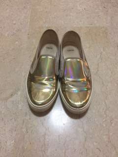 ASOS Gold Holo loafers