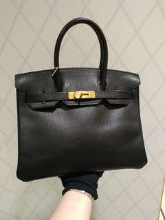 Hermes birkin 30 in black