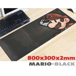 SUPER MARIO-BLACK 8030 Extra Large Mousepad Anti-Slip Gaming Office Desktop Coffee Dining Tabletop Decorative Mat