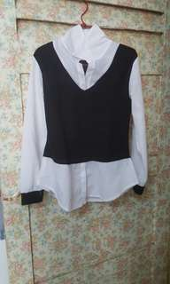 Beautiful White and Black Blouse