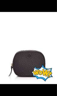 Tory Burch Ella quilted cosmetic bag 14.5x11.5cm