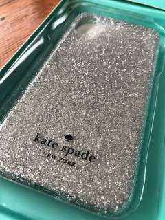 Kate Spade iPhone X Case Silver New
