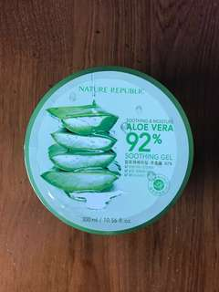 Nature Republic Aloe Vera Gel + Freebie (choose 1)!!