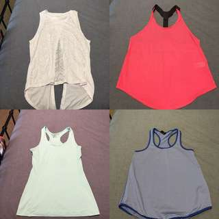 Assorted gym tops