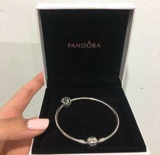 Pandora bangle + charm