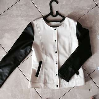 COTTON INK LEATHER VARSITY