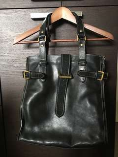 Country Road Black Calf Leather Shopper/Tote.