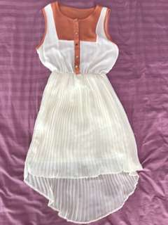 Cream fishtail dress