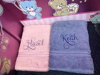 Customised towel