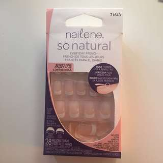Nailene   Stick on French tip faux nails