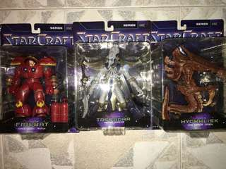 Toycom Blizzard Starcraft Series 1 (full set of 3 figures)