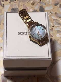 Seiko Solar Watch In Gold