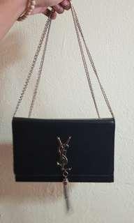Black and Gold Shoulder Bag (YSL)