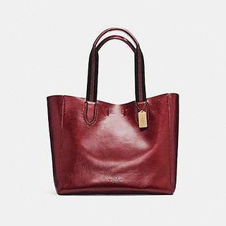 Coach Leather Large Tote Bag (AUTHENTIC)