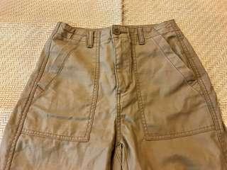 [女裝]GU 大口袋 卡其工作褲 軍褲 美式復古 Uniqlo S
