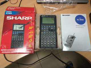 Sharp scientific graphing calculator EL-9650