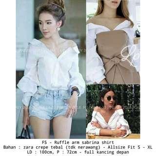 Blouse sabrina outfit girl