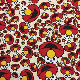 Cute elmo cream canvas fabric/kain diy cloth