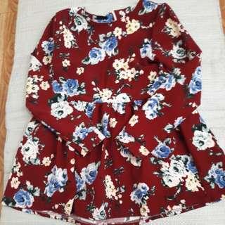 SUPER SALE! Korean floral longsleeves mini dress