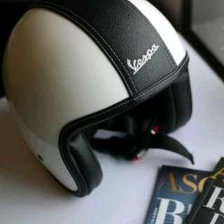 Helm vespa original white glossy