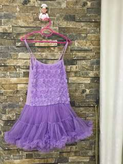 Tutu purple dress